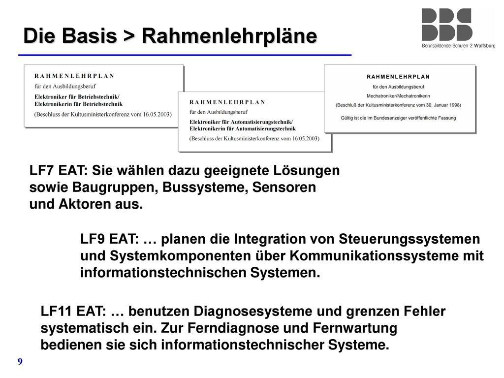 Die Basis > Rahmenlehrpläne