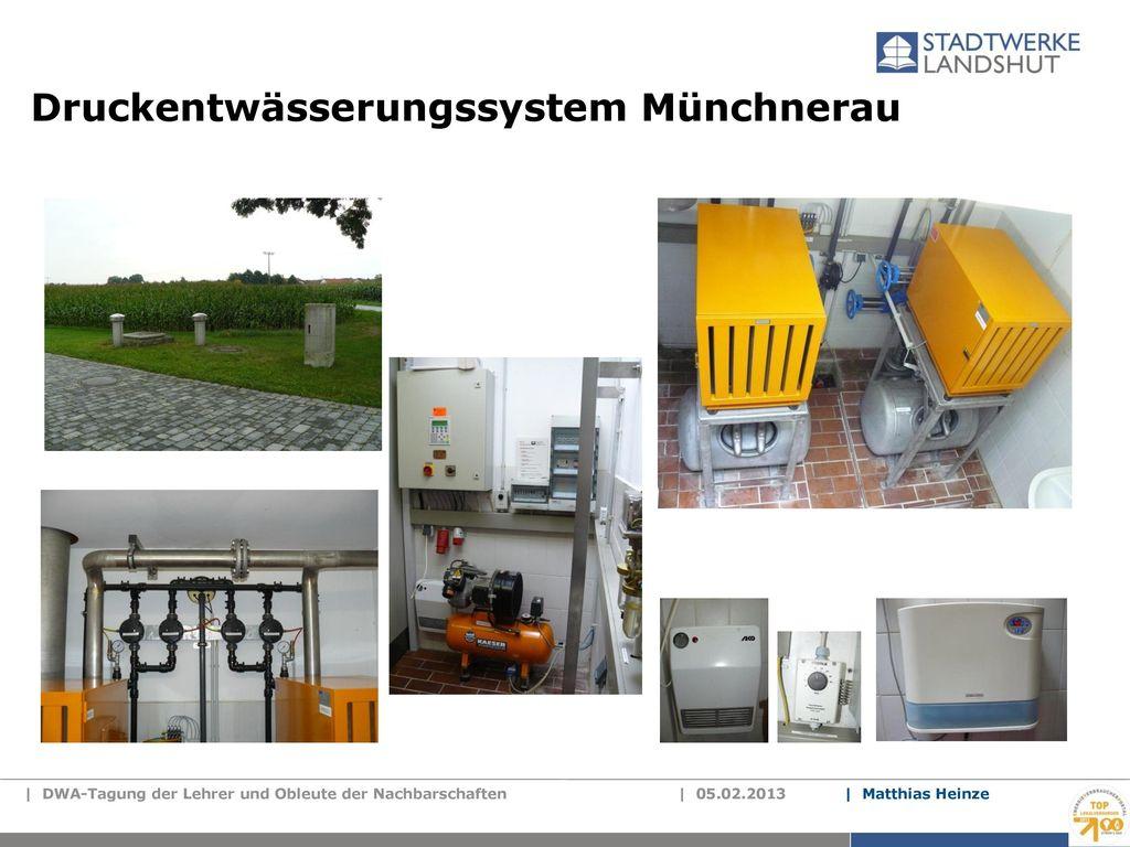 Druckentwässerungssystem Münchnerau