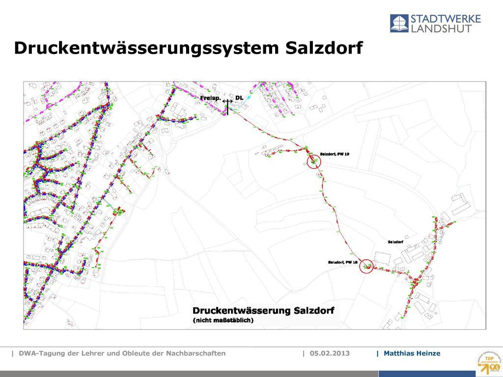 Druckentwässerungssystem Salzdorf