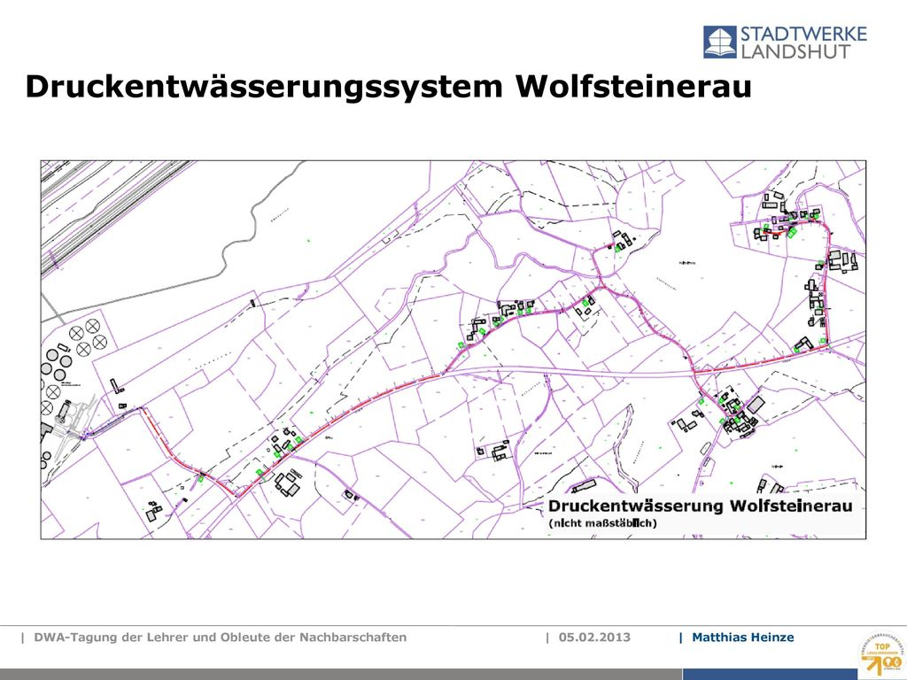 Druckentwässerungssystem Wolfsteinerau