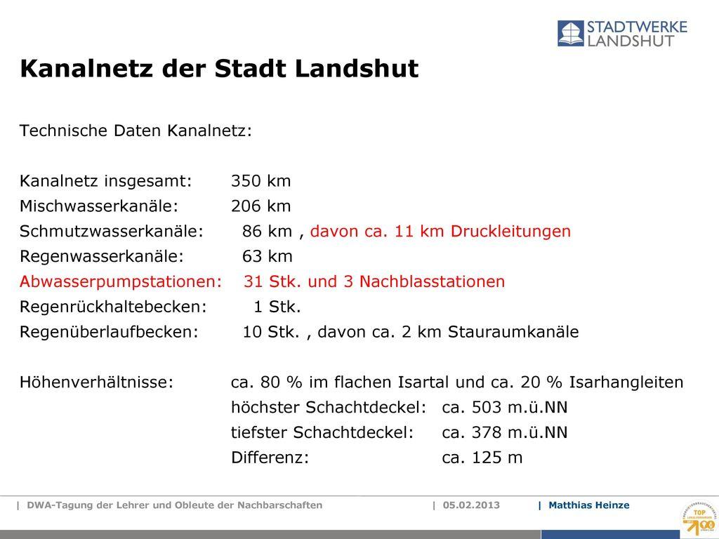 Kanalnetz der Stadt Landshut