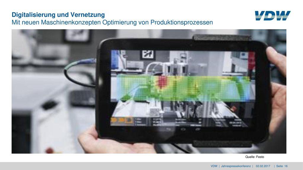 Digitalisierung und Vernetzung Mit neuen Maschinenkonzepten Optimierung von Produktionsprozessen