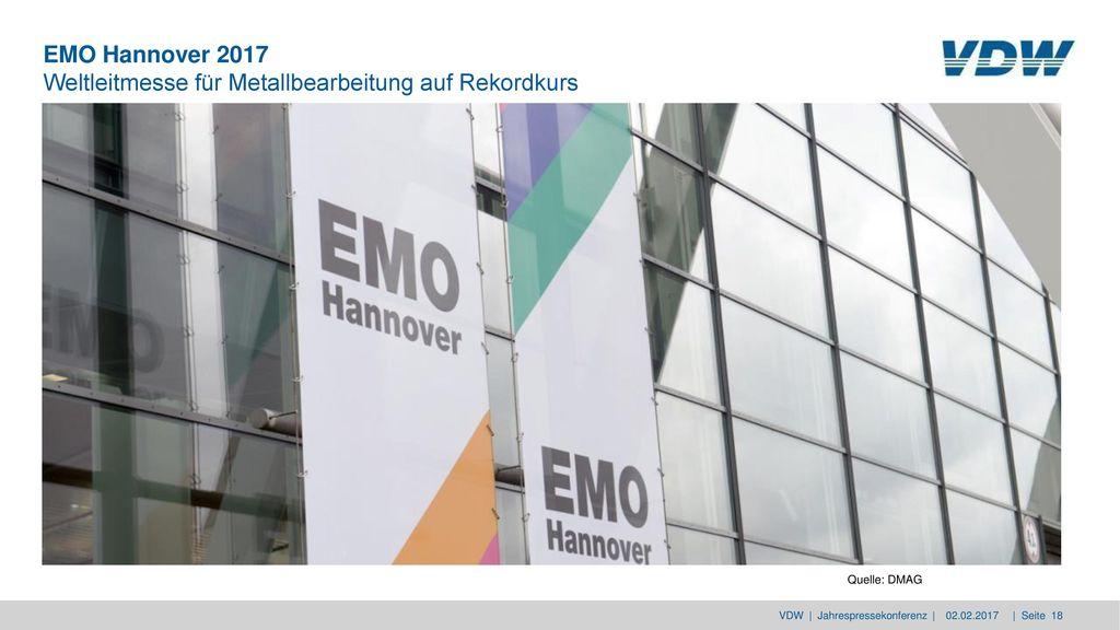 EMO Hannover 2017 Weltleitmesse für Metallbearbeitung auf Rekordkurs