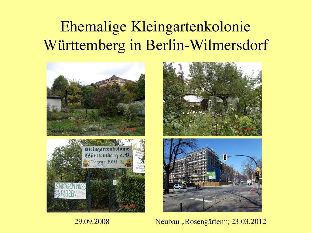 Ehemalige Kleingartenkolonie Württemberg in Berlin-Wilmersdorf