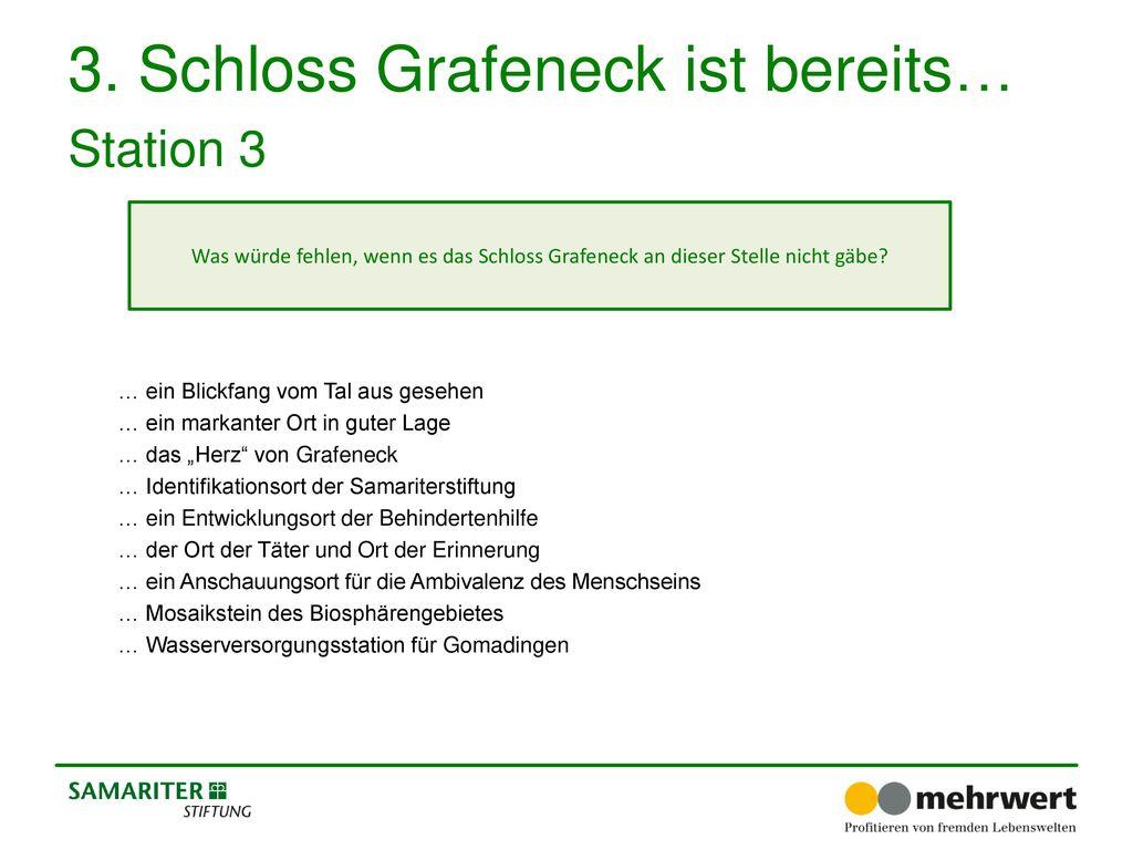 3. Schloss Grafeneck ist bereits… Station 3