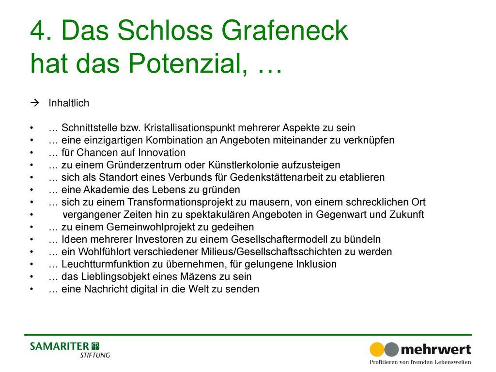 4. Das Schloss Grafeneck hat das Potenzial, …