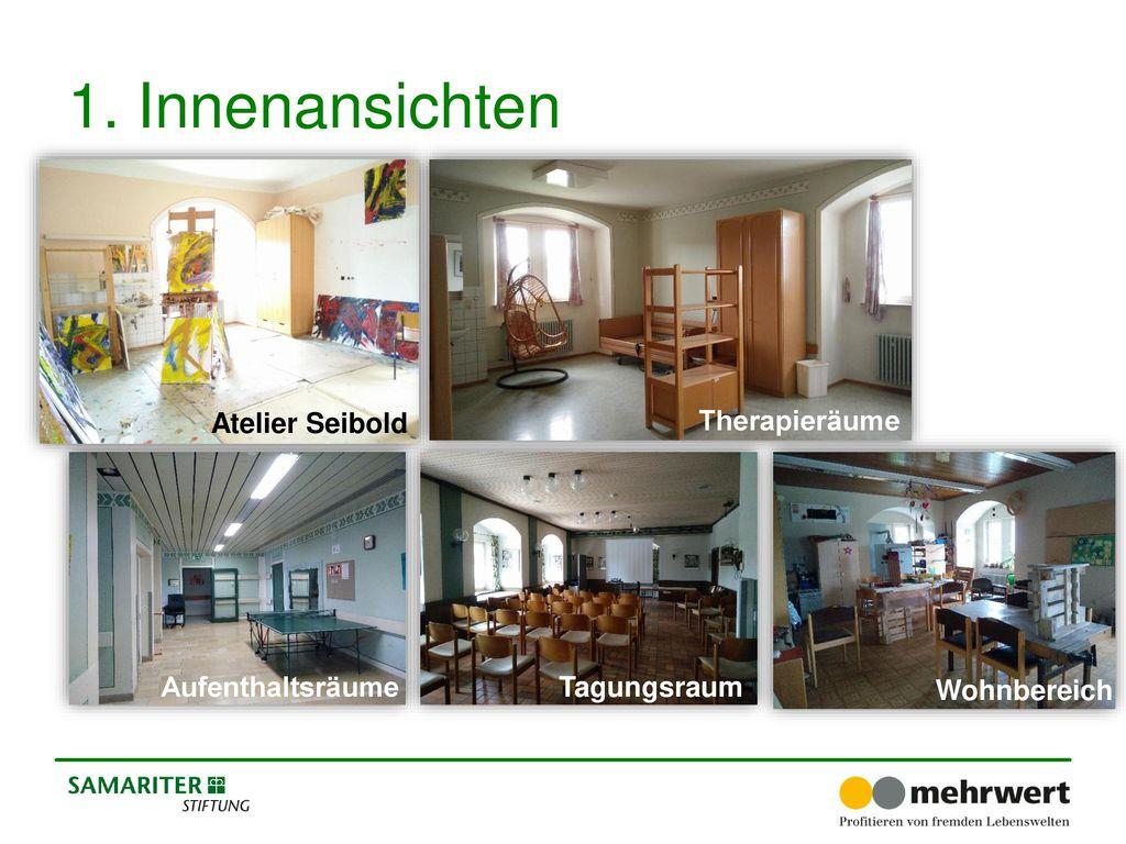 1. Innenansichten Atelier Seibold Therapieräume Aufenthaltsräume