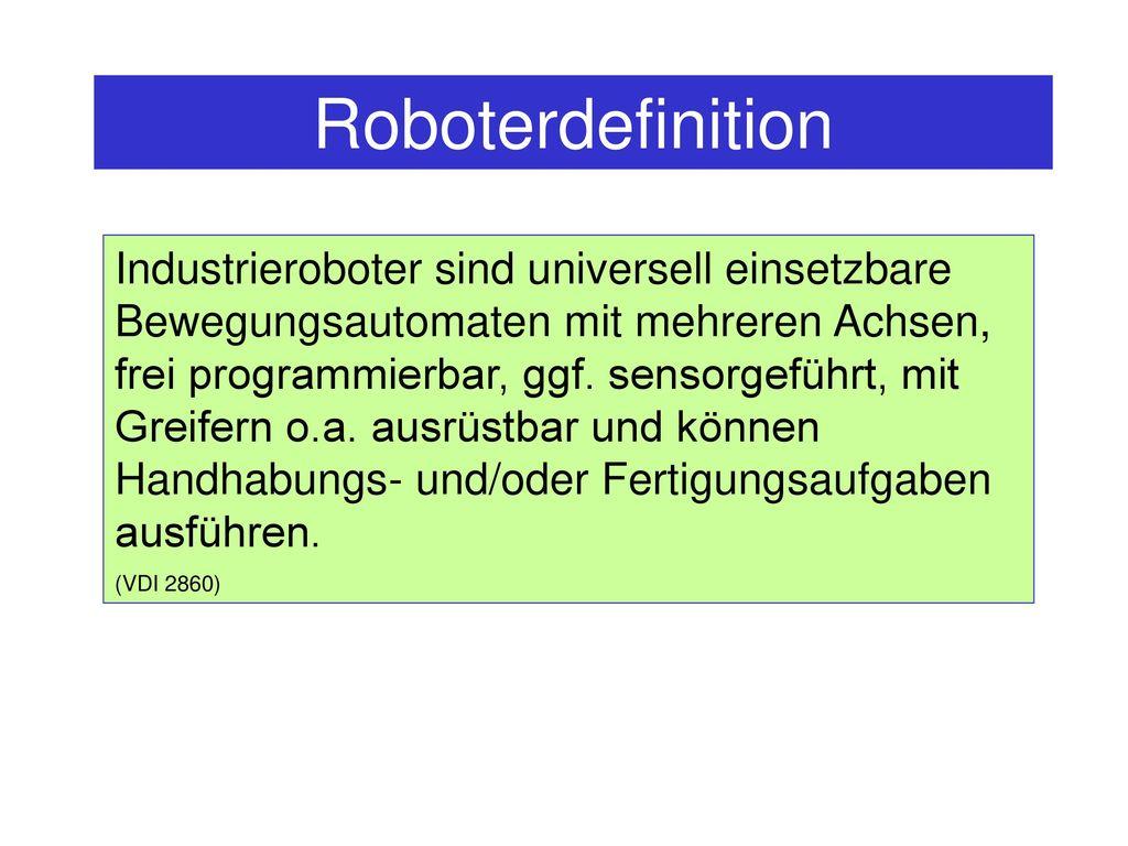 Roboterdefinition
