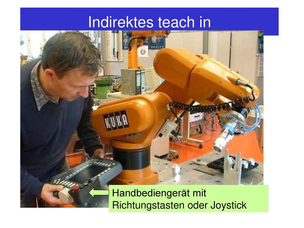 Indirektes teach in Handbediengerät mit Richtungstasten oder Joystick
