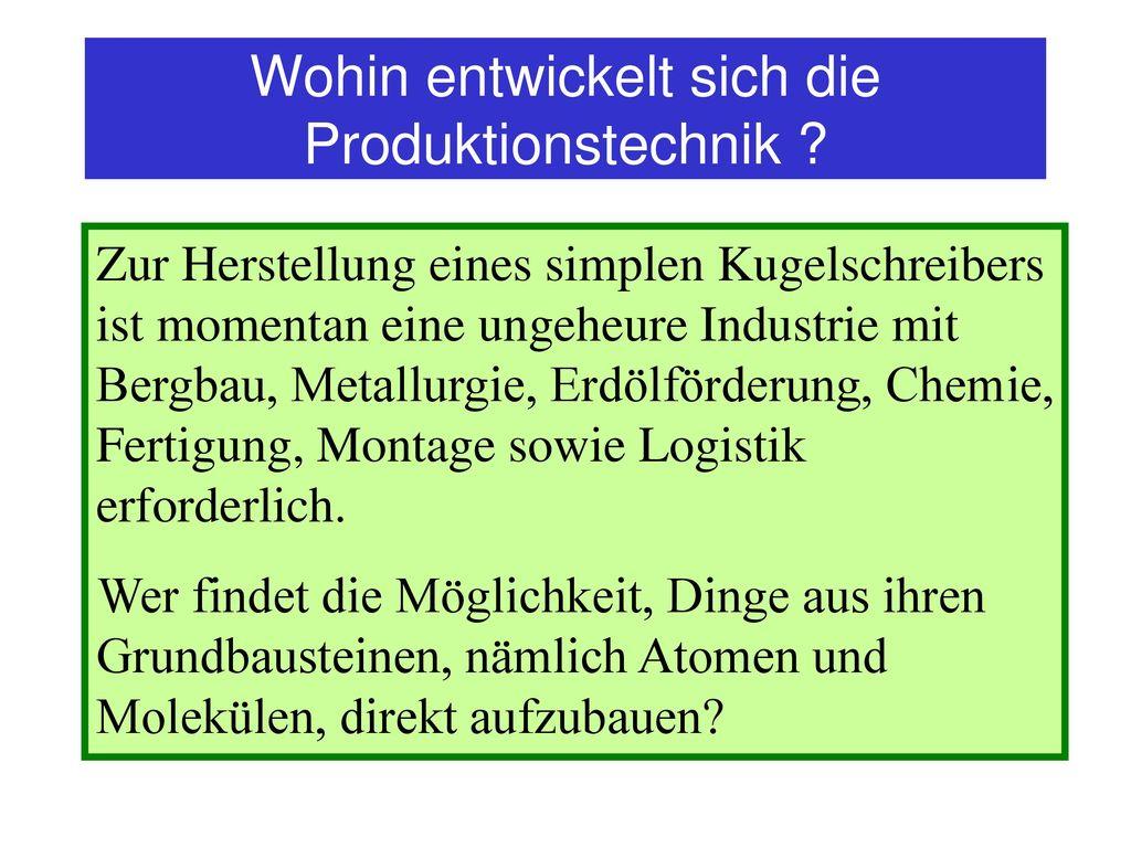 Wohin entwickelt sich die Produktionstechnik