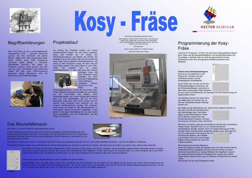 Programmierung der Kosy-Fräse