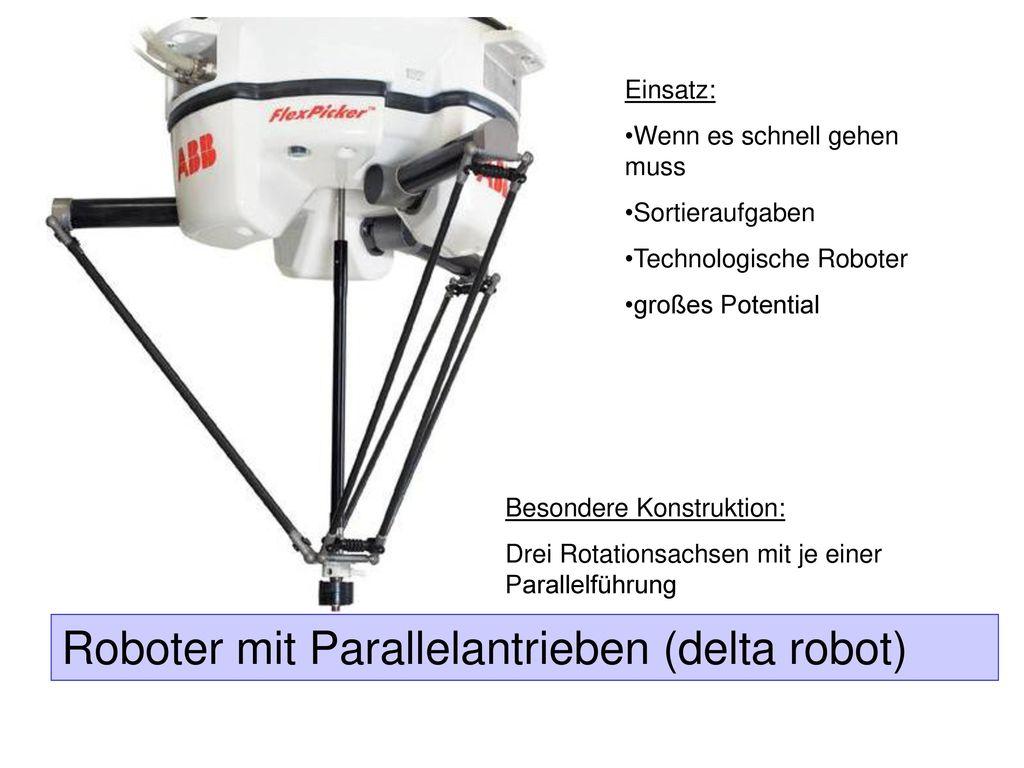 Roboter mit Parallelantrieben (delta robot)