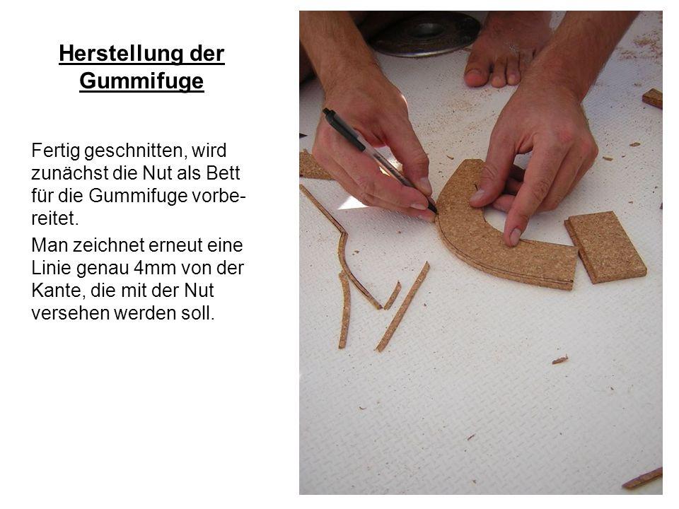 Herstellung der Gummifuge