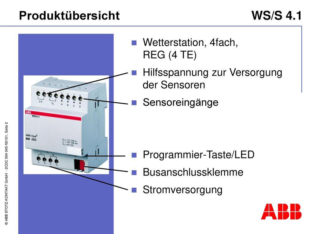 Produktübersicht WS/S 4.1