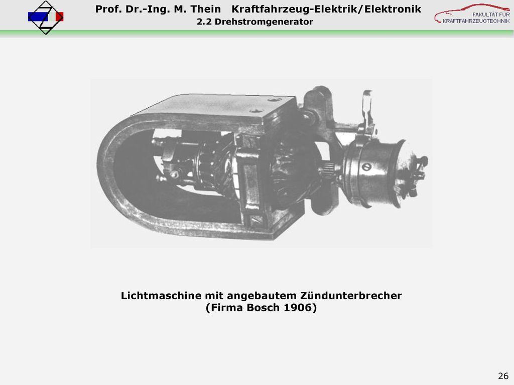 Lichtmaschine mit angebautem Zündunterbrecher