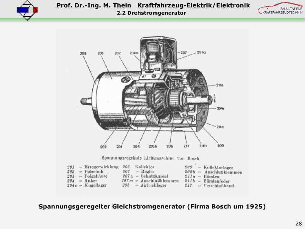 Spannungsgeregelter Gleichstromgenerator (Firma Bosch um 1925)
