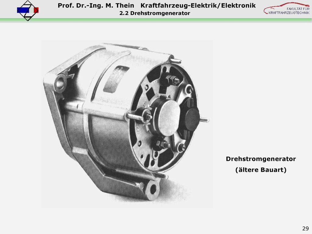 Drehstromgenerator (ältere Bauart)