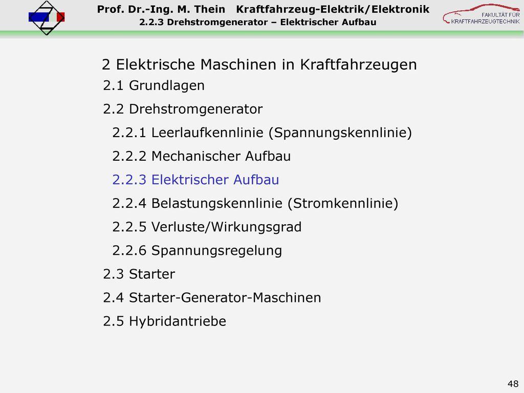 2.2.3 Drehstromgenerator – Elektrischer Aufbau