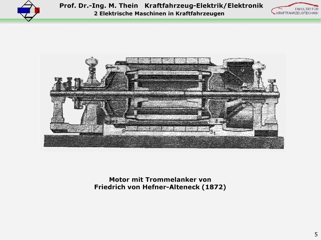 Motor mit Trommelanker von Friedrich von Hefner-Alteneck (1872)