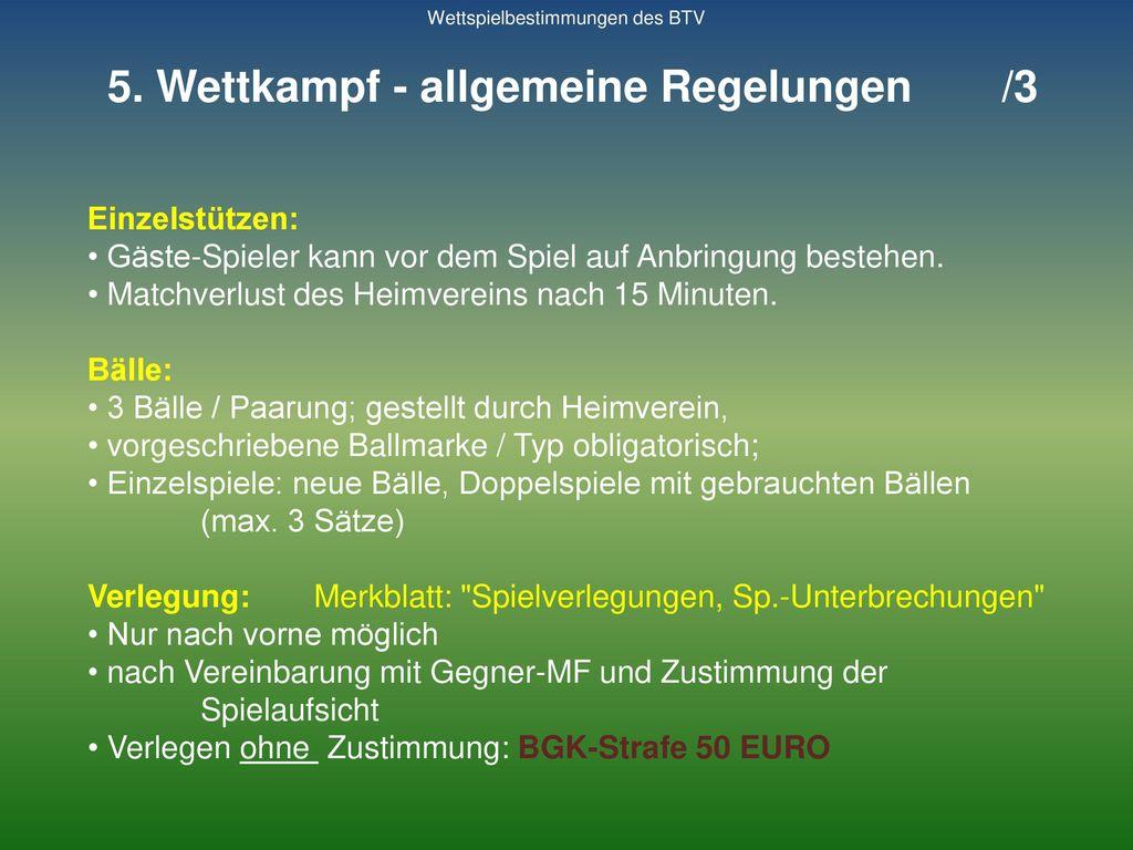 5. Wettkampf - allgemeine Regelungen /3