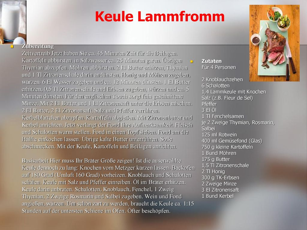 Keule Lammfromm