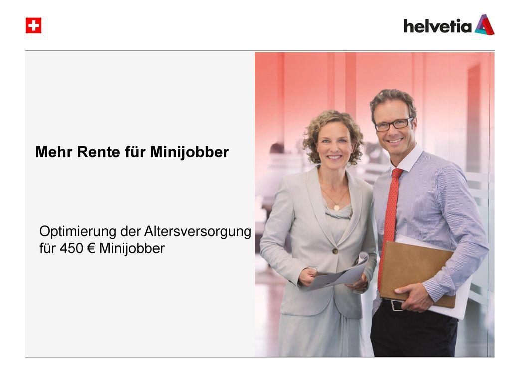 Mehr Rente für Minijobber