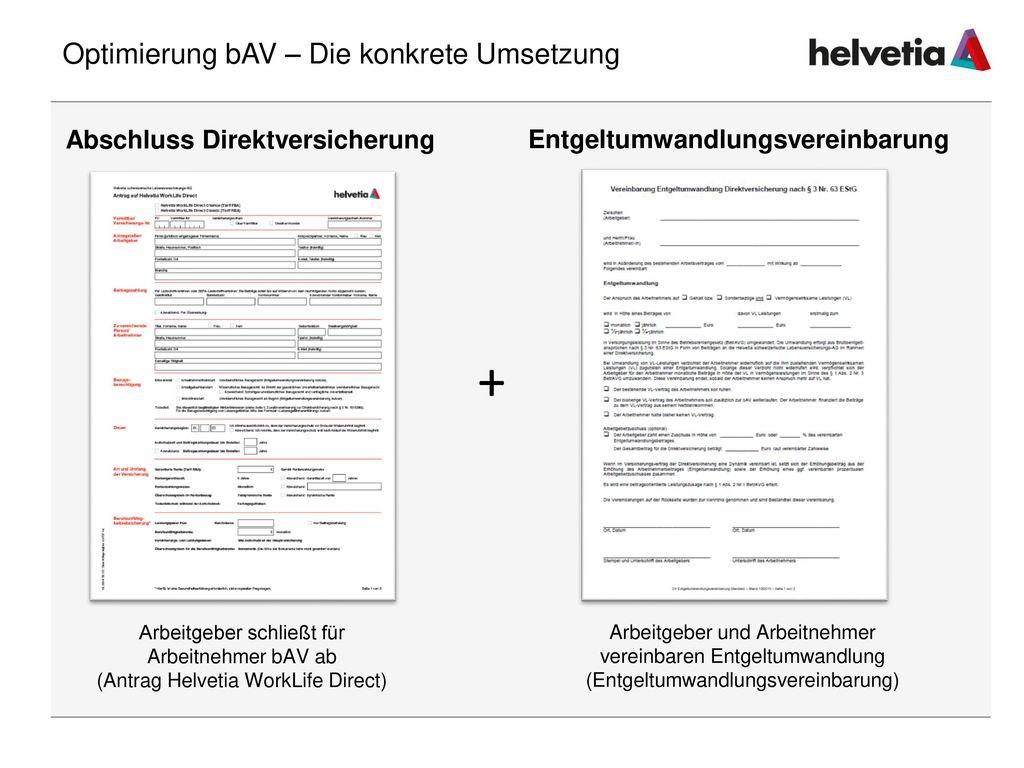Optimierung bAV – Die konkrete Umsetzung