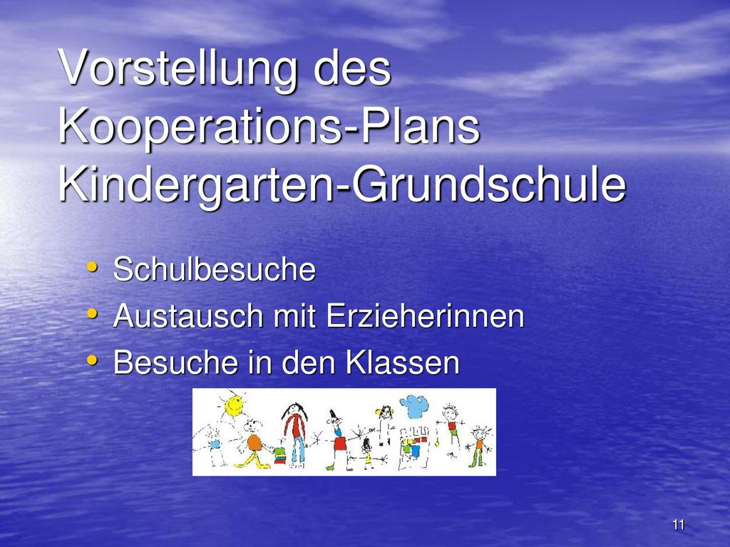 Vorstellung des Kooperations-Plans Kindergarten-Grundschule