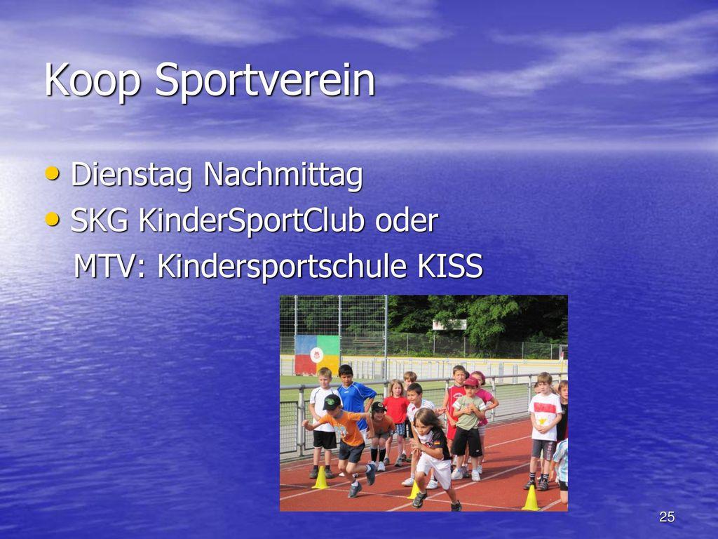 Koop Sportverein Dienstag Nachmittag SKG KinderSportClub oder