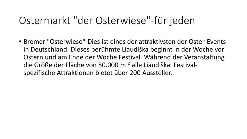 Ostermarkt der Osterwiese -für jeden