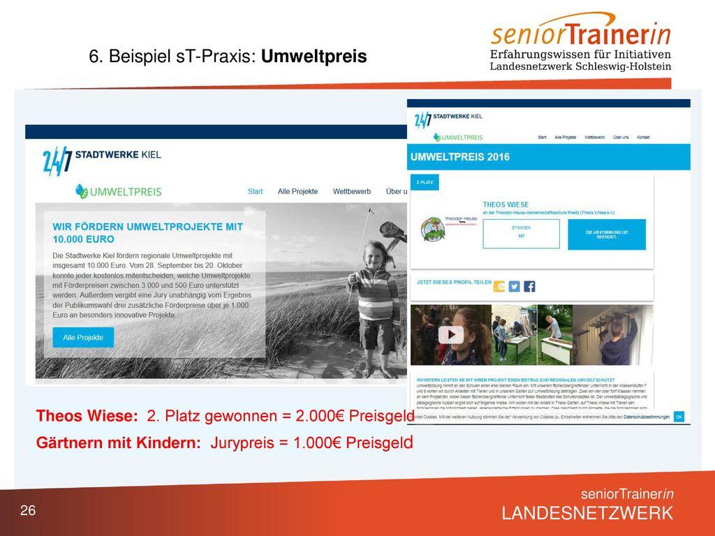 6. Beispiel sT-Praxis: Umweltpreis