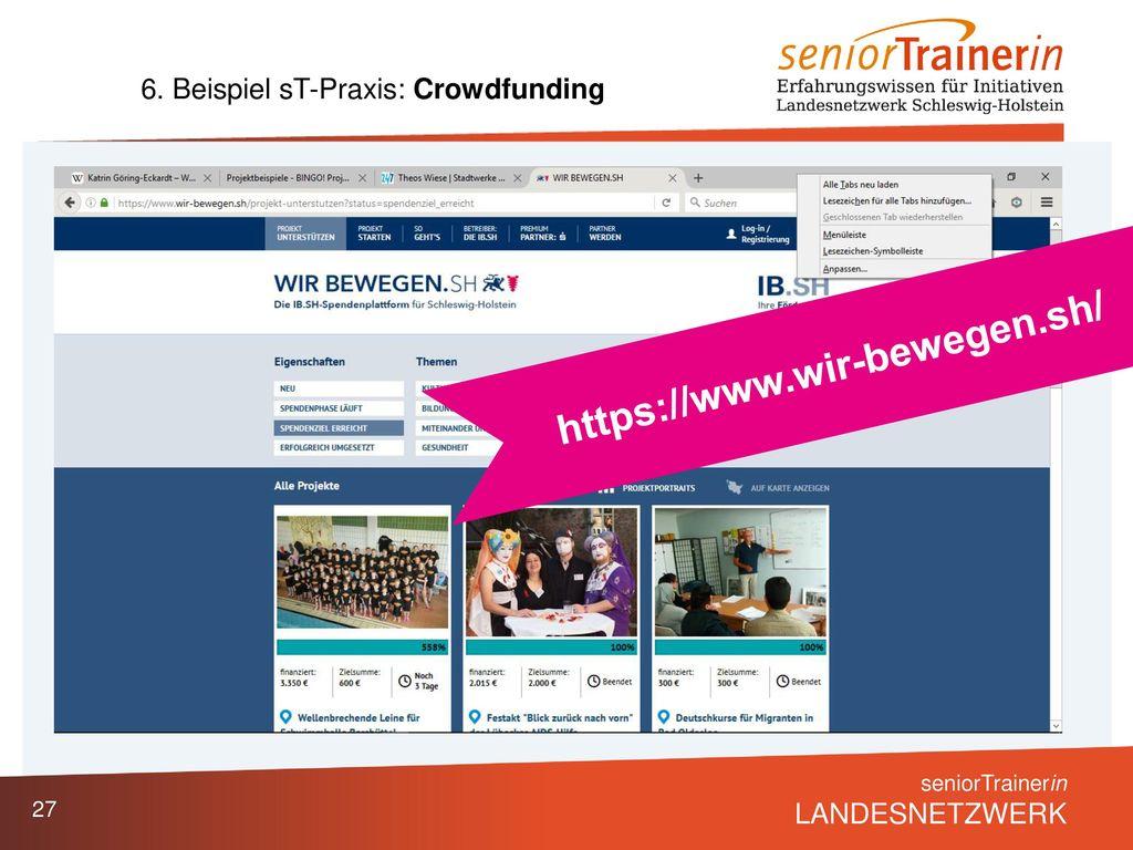 6. Beispiel sT-Praxis: Crowdfunding