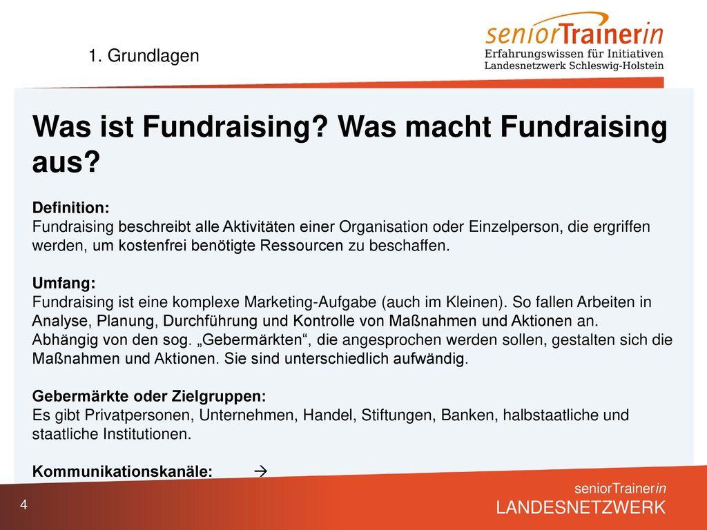 Was ist Fundraising Was macht Fundraising aus