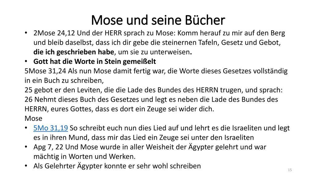 Mose und seine Bücher