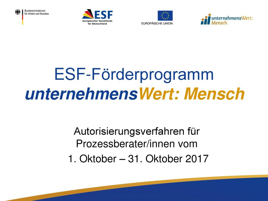 ESF-Förderprogramm unternehmensWert: Mensch