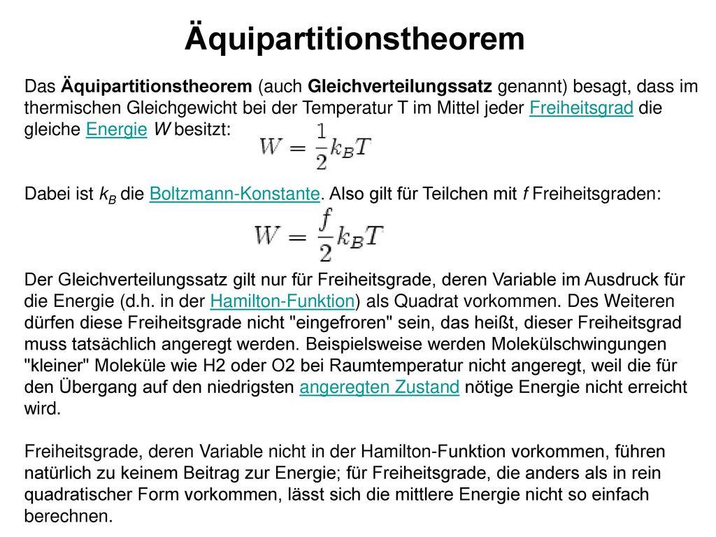 Äquipartitionstheorem