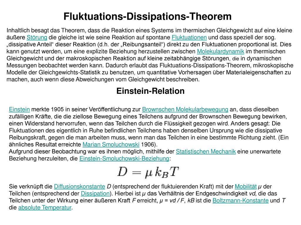 Fluktuations-Dissipations-Theorem