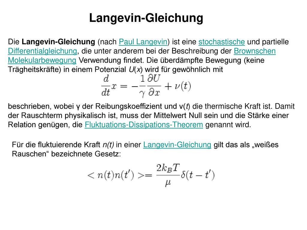 Langevin-Gleichung