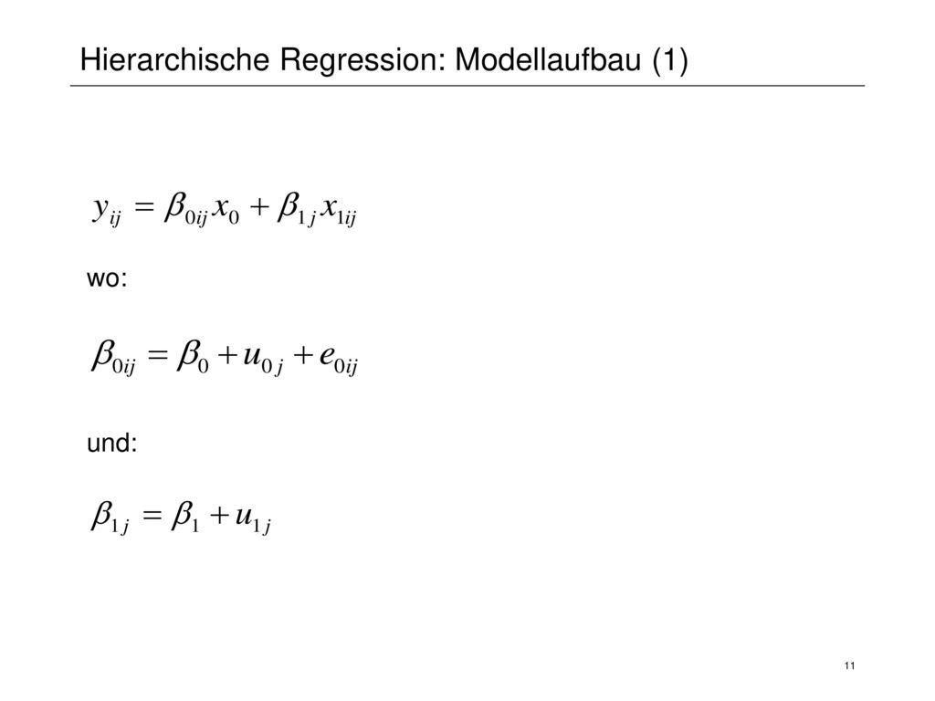 Hierarchische Regression: Modellaufbau (1)