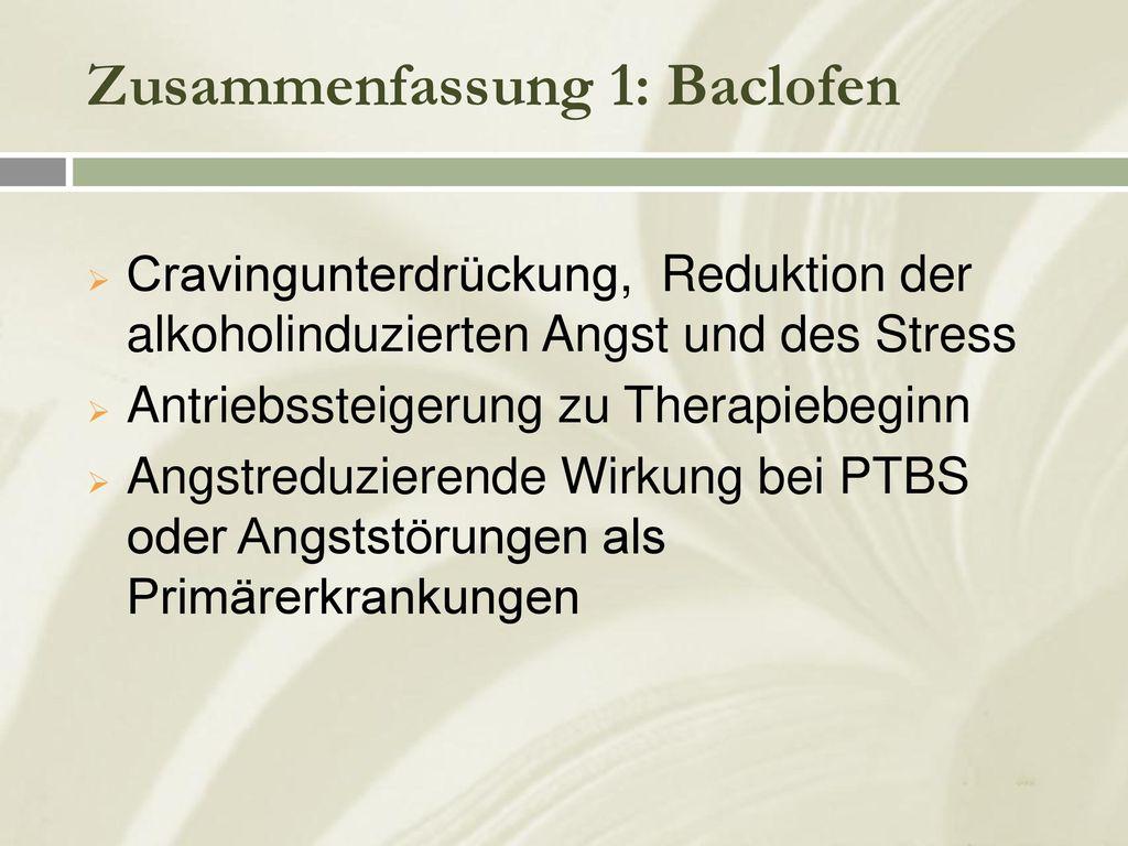 Zusammenfassung 1: Baclofen