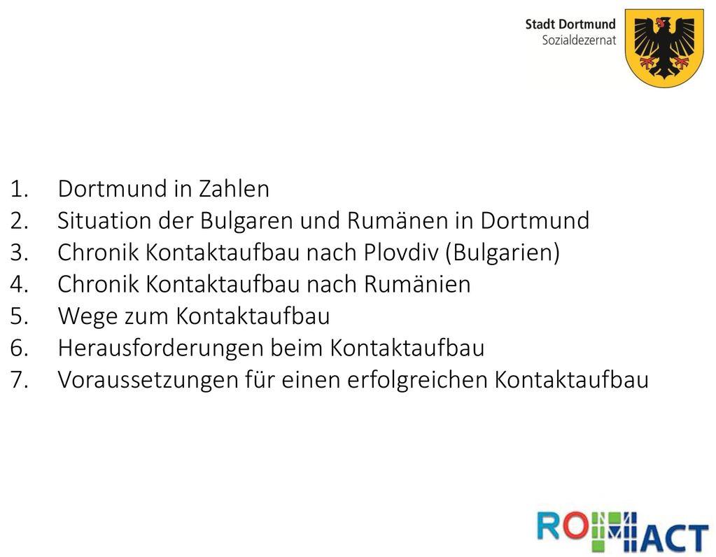 Situation der Bulgaren und Rumänen in Dortmund