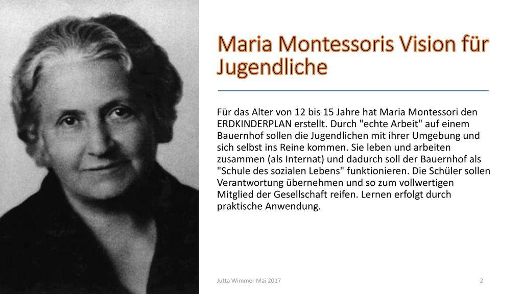 Maria Montessoris Vision für Jugendliche