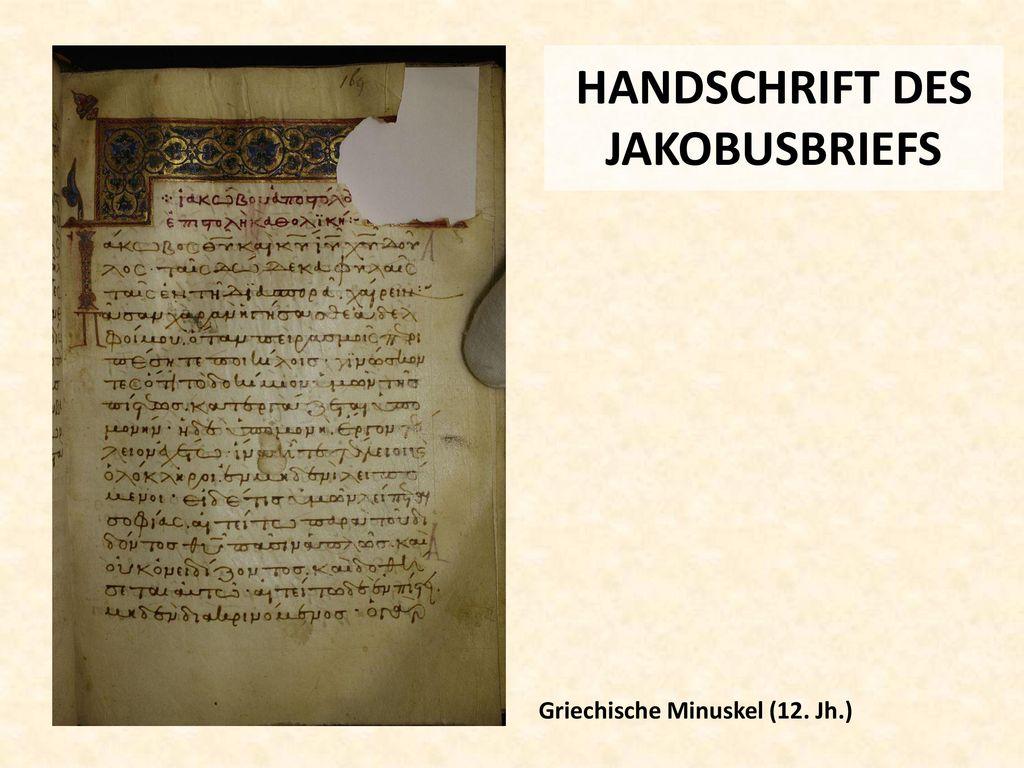 HANDSCHRIFT DES JAKOBUSBRIEFS