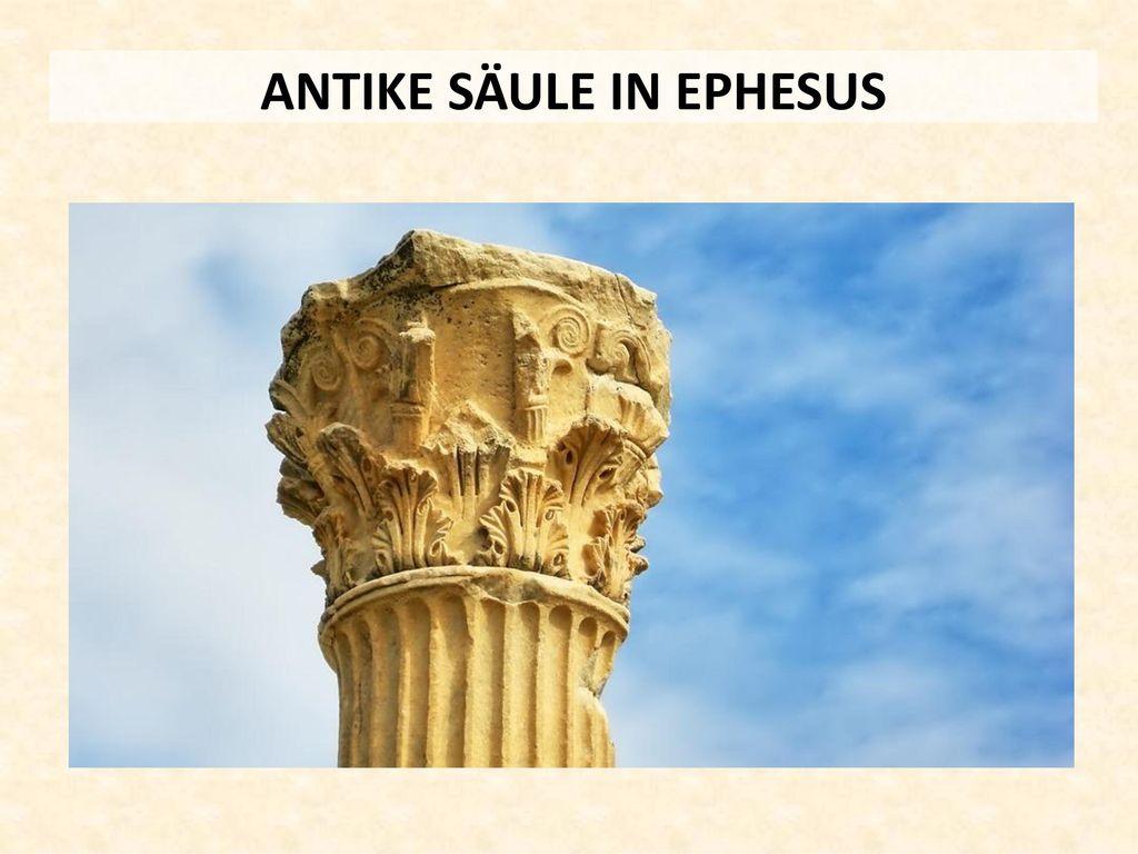 ANTIKE SÄULE IN EPHESUS