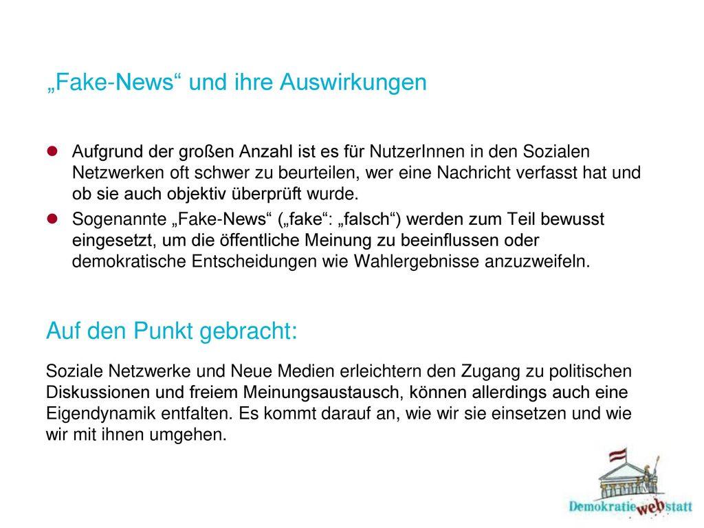 """""""Fake-News und ihre Auswirkungen"""
