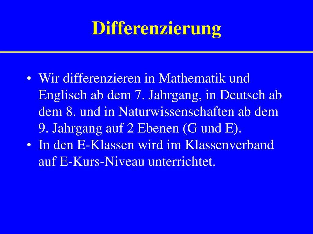 Differenzierung