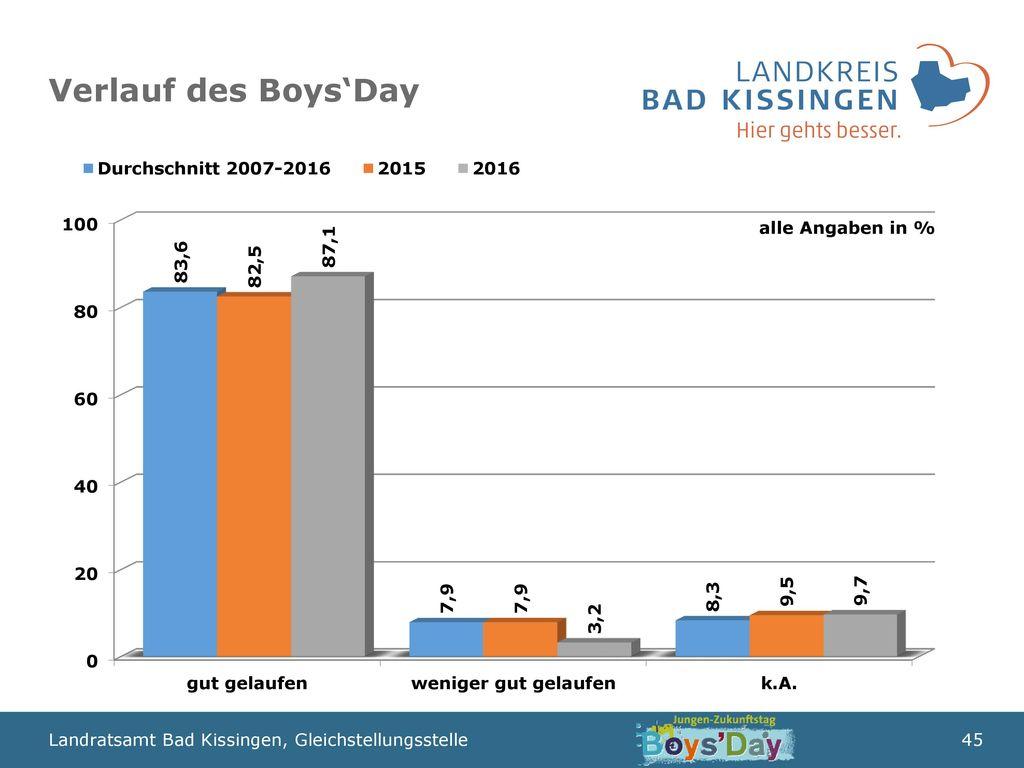 Verlauf des Boys'Day alle Angaben in %