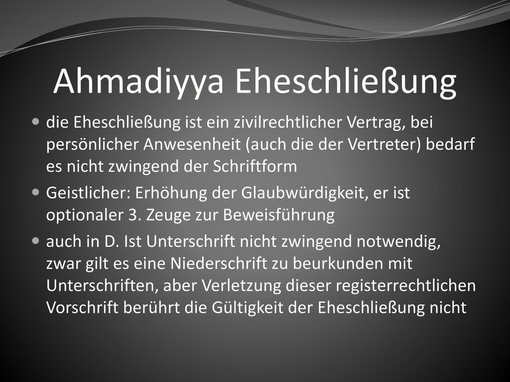 Ahmadiyya Eheschließung