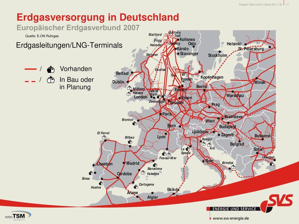 Erdgasversorgung in Deutschland Europäischer Erdgasverbund 2007