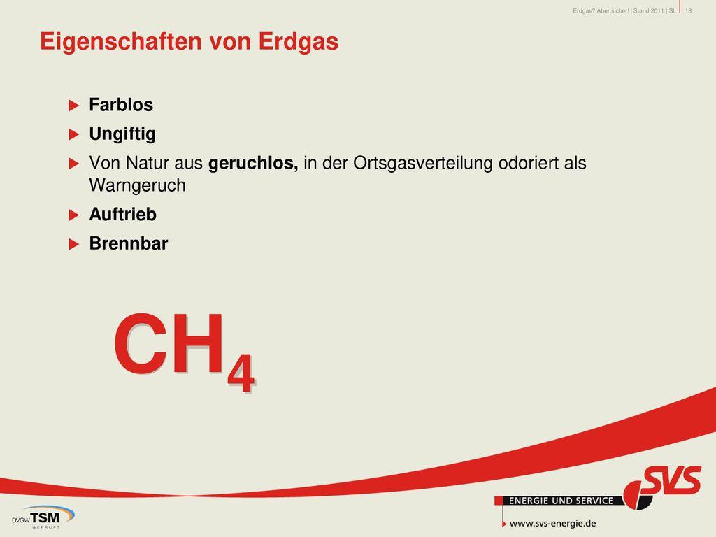 Eigenschaften von Erdgas